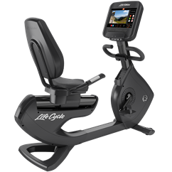 Life Fitness Platinum Club Series Recumbent Bike with 16 Inch Discover SE Touch Screen