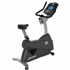 Life Fitness C1 Upright Lifecycle Bike w/ Track Console