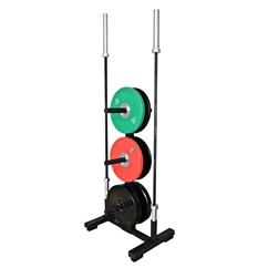 Bumper Plate and Olympic Barbell Rack