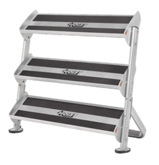 Hoist 5461 2-Tier Horizontal Dumbbell Rack With Optional 3rd-tier add on