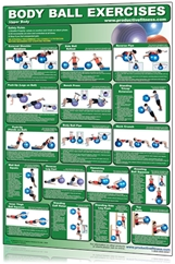 Body Ball Exercises: Upper & Lower Body Poster