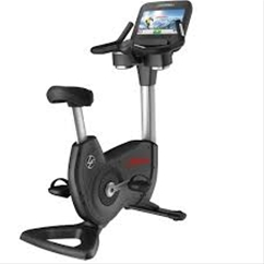 Life Fitness Platinum Club Series Upright Bike with 16 Inch Discover SE Touch Screen