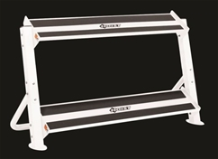 Hoist 4461 48 2-Tier Horizontal Dumbbell Rack (White)