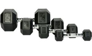 Fitness Town - Rubber Hex Dumbbells