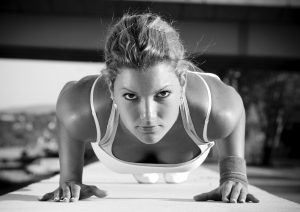 Fitness Town - Woman Doing Push-up